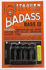 LEO QUAN® Badass Bass IIl 4-String Bass Bridge~Black~Fender P & J Bass~Brand New
