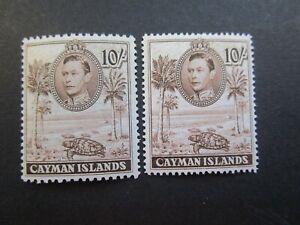 Cayman Islands George VI Both Ten Shillings Fine Mint-£68.00-Read all Below.