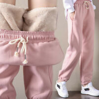 Women Harem Pants Thicken Fleece Lined Breathable Winter Pants for Outdoor Sport