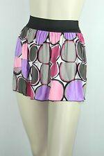Poly Span Elastic Waist A-line Skater Mini Skirt Juniors MEDIUM S2012_2