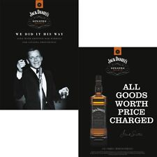 JACK DANIELS /SINATRA DOUBLE SIDED POST CARDS  SET OF 5