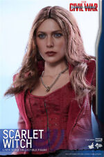 1/6 scale Scarlet Witch Head Sculpt For 12'' Figure Golden Hair head model Toys