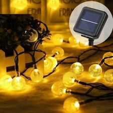 LED Fairy String Lights Garlands Crystal Ball Lamp Power Christmas Outdoor Decor