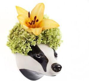Quail Ceramics    Wall Flower Vase   Badger