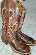 LUCCHESE EXOTIC ostrich leg 8 D CLASSIC HANDMADE western cowboy brown