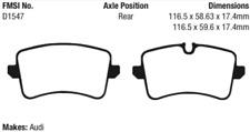 EBC Yellowstuff 4000 Brake Pad Set Rear for RS7 / S6 / S7 / S8 / Porsche Macan