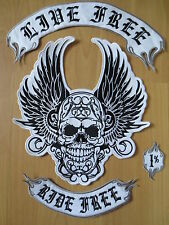 HUGE BACK PATCH Embroidered Skull with Wings 34cm * 45 cm Ride free BEP18