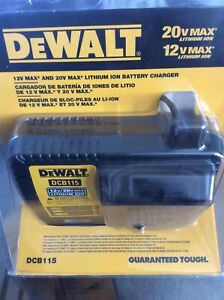 DEWALT 20V MAX LITHIUM ION BATTERY CHARGER (NEW) MODEL # DCB115