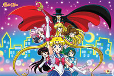SAILOR MOON CITY LIGHTS POSTER NEW 36x24 JAPANESE ANIME FREE SHIPPING