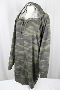 Torrid Women's Camo French Terry Tunic Full Zip Hoodie Plus Size 5 Camo 14507678