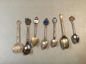 Lot of sterling silver souvenir spoons, 78g Total Weight! SEE BELOW FOR DETAILS!