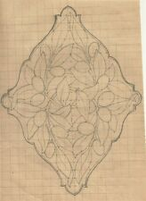 Antico Disegno a Matita Art Nouveau Affresco o Formella Stile Liberty 1900