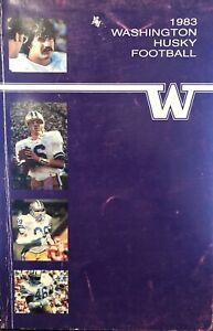 1983 UNIVERSITY of WASHINGTON HUSKIES Football - Media Guide - UW Huskies