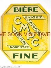 Scarce France CMPC Fine Biere Tavern Trove French Beer Label
