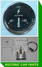 60AMP SMITHS Style AMMETER Black ALTERNATOR Gauge for Austin Cooper & S 1960-70s