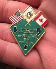 Lions Club Pins-Vintage 1970's, Manitoba, Ontario 5m Minnesota (Z28-3)