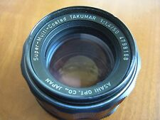 PENTAX Asahi Super Multi Coated Takumar 50mm F1.4 Lens M42 Screwmount smc  tak