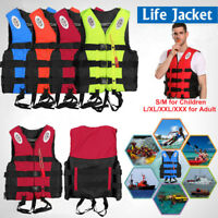 Adults Kids Life Jacket Swimming Fishing Floating Kayak Buoyancy Aid Vest S~XXXL