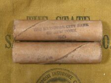 (One) National City Bank Ny Indian Head Penny Roll 50 Cents - 1859 1909