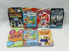 Lot of (07) Family Card Games Uno, Tetris,Battle of The Sexes, Battleship...