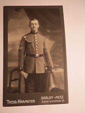 Sablon-Metz-debout SOLDAT en Uniforme-portrait/CDV