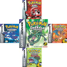 Pokémon GBA Fire Red, Leaf Green, Ruby, Emerald, Sapphire! New! Cartridge Only!