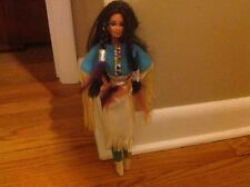 BARBIE TERESA LONG BLACK BRAIDS, NATIVE AMERICAN INDIAN DOLL, COSTUME