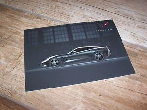 Carte publicitaire / Official Card Brochure CHEVROLET Corvette StingRay 2016 //