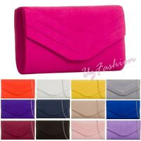 New Suede Wedding Ladies Party Prom Evening Clutch Hand Bag Purse HandBag