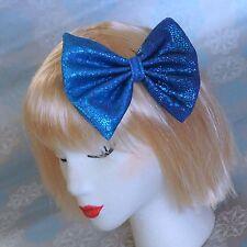 Escala De Sirena Azul Grande Cabello Moño Clip 50s Brillante Brillo Pin Up Lolita Gaga