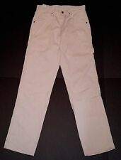 Key Industries Off White Traditional Fit Authentic Dungaree Work Pants