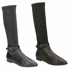 Botas de mujer negro plano (menos de 2,5 cm)