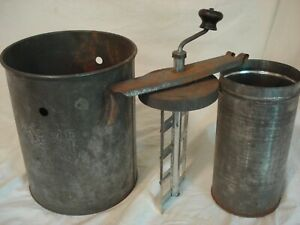 Antique Acme Freezer Metal Butter Churn by Ritter Can Co.