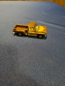 vtg Yatming Chevy Stepside Chevrolet pick up truck pickup - Gold Eagle brown