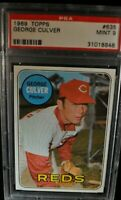1969 Topps - George Culver - #635 - PSA 9 - MINT