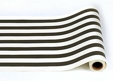Kitchen Papers Black & White Classic Stripe 25' Paper Table Runner