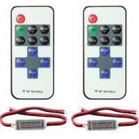 2X RF Wireless Controller Mini Dimmer for LED Single Color 3528 5050 Light Strip