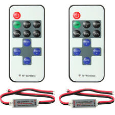 2X Mini RF Wireless Remote Controller For 3528 5050 LED Single Color Strip Light
