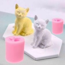 3D Cute Cat Silicone Soap Candle Mold Fondant Chocolate DIY Decor Baking Mold CA