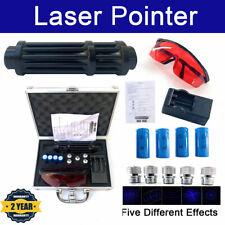 Blue Laser Pointer 450nm Visible Beam Lighter Lazer Pen with 4pcs Batteries +Box