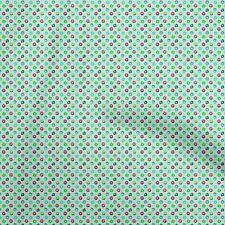 oneOone Cotton Flex Baby Blue Fabric Donuts Sewing Material Print-Jwi