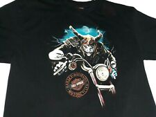 Harley Davidson Rommel Mens T-Shirt Large Annapolis Maryland Black Demon Rider