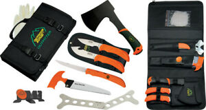 Outdoor Edge The Outfitter Hunting Set w/ Axe Caping Guthook Skinner Knives OF1