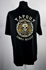 Tapout Print Tee Tshirt XL spell out Simply Believe