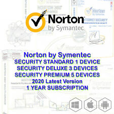 Norton Internet Security Standard DELUXE PREMIUM 1 3 5 Devices Mac Android 2020