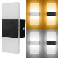 New Modern Wall Lamp Up Down Cube Indoor Outdoor LED Sconce Light Lighting Home