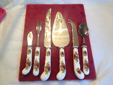 ROYAL ALBERT OLD COUNTRY ROSES  CUTLERY  SERVING PIECES