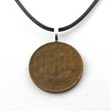 Collier pièce de monnaie Royaume-Uni half penny George VI