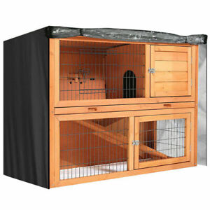 "48"" Rabbit Hutch Cover Waterproof Large Double Garden Pet Bunny Cage Covers UK"