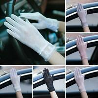 SUMMER DRIVING LADY TOUCH SCREEN SUNSCREEN GLOVES ANTI-UV SHEER LACE MITTENS Won